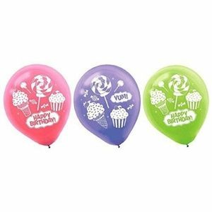 Sweet Shop Pack Of 6 Latex Helium Quality Balloons